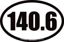 "140.6 Full Ironman Triathlon Oval Car Magnet 4 1/4"" x 6 1/2"""