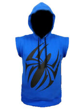 Scarlet Spider Blue Pullover Sleeveless Hoodie - Halloween Sale