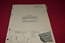 John Deere Hay Conditioner Dealer's Parts Book Manual PANC