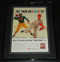 1958 RCA Victor Color TV 11x14 Framed ORIGINAL Vintage Advertisement