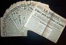 Quotidiano La Nazione - Periodo Fascista -  Lotto 47 Numeri Ottobre-Dicembr 1935