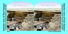 Fort Sumter Gabions Charleston SC Civil War SV Stereoview Stereocard 3D 02315