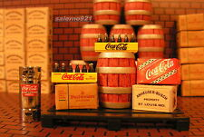 BUDWEISER/COCA-COLA PACKAGE #2  FROM DANBURY MINT  1:24 SCALE DIORAMA