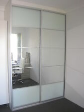 Built in, DIY Wardrobe Sliding Doors *Made to Measure* Mirror and opal glass