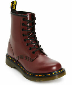 Women's Shoes Dr. Martens 1460 8 Eye Boots 11821600 CHERRY RED