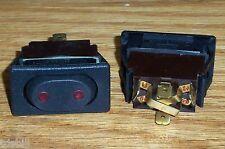 ONE McGill Lit Marine (On)Off(On) Momentary SPDT Euro Style Rocker Switch, Black