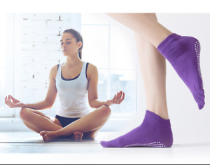 Women Ladies Non-Slip Grip Pilates Barre Yoga Socks Ballet Dance Sport Exercise