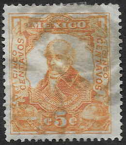 Mexico 1910 100th Anniversary of the Mexican War of Independence 5c (HBX)