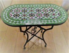 Table ovale en zellige marocain artisanal