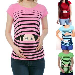 Umstandsmode T-Shirt Motiv Schwangerschaft Geschenk Guck Guck Süßen Aufdruck
