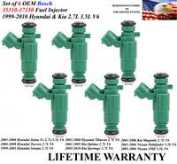 Reman 6x Fuel Injectors />01-06 Hyundai Santa Fe 3.5L V6/< OEM Hyundai 35310-38010