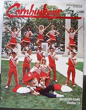 1984 Football PROGRAM for Nebraska Cornhuskers vs Missouri Tigers- 10/13/84