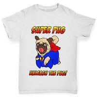 Twisted Envy Boy's Super Pug Unleash The Pug Cotton T-Shirt