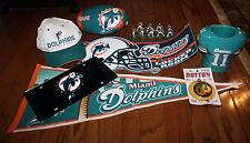 Ultimate NFL Miami Dolphins Football Fan Pack Includes 9 Amazing Items FREE Shp