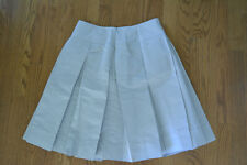 Women's gray Body by Victoria pleated silver holiday gray skirt size 8