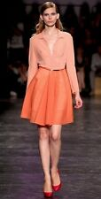 Cacharel sheer stretch silk peach coral button down top blouse sz IT38/US 2 NWT