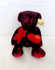 "Diamond Plush Toys Sitting 14"" Teddy Bear- I love You - Plush Stuffed Animal"