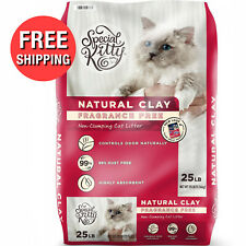 Natural Ground Clay Cat Litter Unscented 25 Pounds Highly Absorbent Odor Control