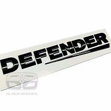 LAND ROVER DEFENDER COUNTY 90 110 SWOOSH GLOSS BLACK 3D BACK BADGE LETTERING