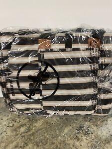California Innovations 4Pc Black Stripe Designer Insulated Cooler Tote Bag Set