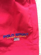 Vintage Ralph Lauren Polo Sport Swim Trunks Shorts men Large Red Usa flag