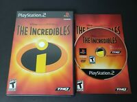 Disney - The Incredibles (Sony PlayStation 2, 2004) PS2 Video Game THQ CIB