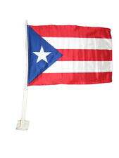 """12x18 Puerto Rico Car Vehicle 12""""x18"""" Flag Super Polyester fade Resistant"""