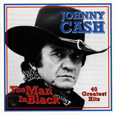 JOHNNY CASH THE MAN IN BLACK 40 GREATEST HITS 2 CD NEW