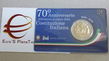 coin card 2 euro fdc Italia 2018 Costituzione Italie Italy Italien Италия 意大利