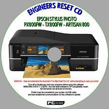 EPSON ARTISAN 800 PX800FW &TX800FW, PRINTER WASTE INK PAD RESET ENGINEERS CD NEW