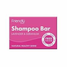 💚Friendly Soap Natural Shampoo Bar Lavender & Geranium 95g