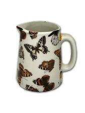 BN Cream Pottery Vintage Butterfly Chintz Style Pitcher Jug, Very Small Milk Jug