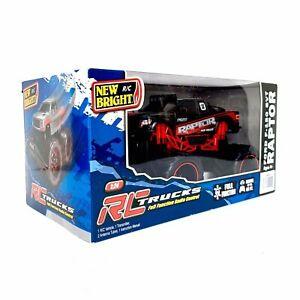 New Bright R/C Raptor Ford F-150 SVT 1:24 Vehicle Truck Radio Control Black/Red