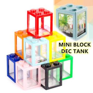 Stackable Mini Fish Tank Betta Fish Mini Aquarium Building Block Fis