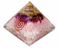 Extragroße Amethyst Rose Orgonit (70-75mm) Orgon Edelsteinpyramide X-Large