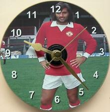 More details for man. utd george best football on a 12cm cd clock non ticking+desk stand