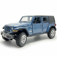 Jeep Wrangler Sahara Rubicon 1:32 Model Car Diecast Gift Toy Vehicle Kids Blue