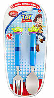 Disney Store Toy Story Alien Kid's Flatware Fork & Spoon Set