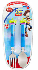 Disney Store Toy Story Alien Kid's Flatware Fork & Spoon Set