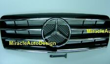BLACK FRONT GRILLE SET FOR 1991-1998 MERCEDES BENZ W140 S-CLASS