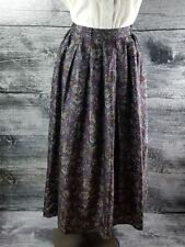 Tristan & Iseut Women  100% Silk Long Maxi Pleated Skirt Art to Wear Purple sz 9