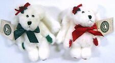 Set of 2 Boyds Bear Angel Ornaments - Faith & Charity Angelbeary w/ Tags fr 2000