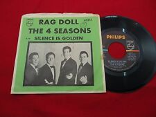 """THE 4 SEASONS RAG DOLL/SILENCE IS GOLDEN 7"""" PS 45 PHILLIPS 40211 1st PRESS"""