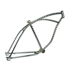 "26"" Twisted Bicycle Frame Chrome Lowrider Cruiser Bikes"