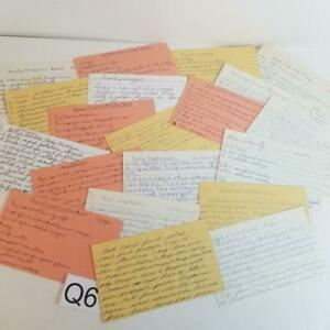 20 vintage handwritten recipe cards 3x5 collection paper ephemera lot Q6