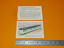 CHROMO 1950 CHOCOLAT KEMMEL TRAINS RAIL VOITURE DE BANLIEUE SNCF