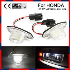 2X LED Lamp Number License Plate Light for Honda Jazz Odyssey Stream Insight NEW
