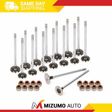 Intake Exhaust Valves w/ Seals Fit 88-95 Honda CRX Civic Delsol D15B D16A6