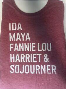 IDA MAYA FANNIE LOU HARRIET & SOJOURNER Shirt Vintage Women sz L