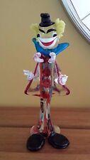 Vintage Venetian Italian Murano Art glass clown figurine sculpture decorative